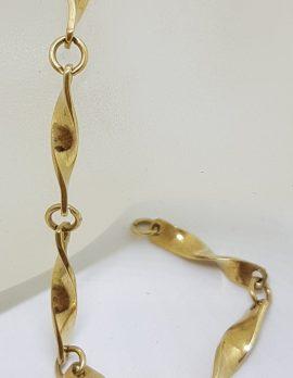 9ct Yellow Gold Ornate Twist Link Bracelet
