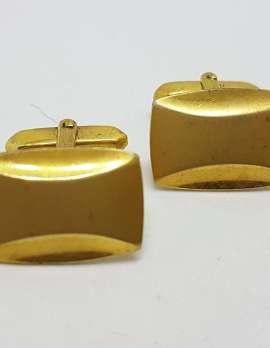 Vintage Costume Gold Plated Cufflinks - Rectangular