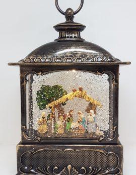Musical Christmas Glitter Lantern – Nativity Scene – Christmas Ornament Design #21