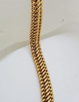 9ct Rose Gold Vintage / Antique Heavy Unusual Link Bracelet