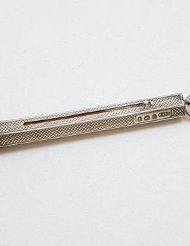 Sterling Silver Patterned Design Pencil - Hallmarked - Antique / Vintage