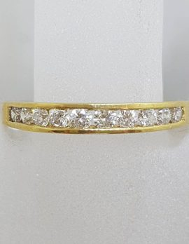 18ct Yellow Gold Channel Set Wedding Band / Eternity Ring / Band / Dress Ring