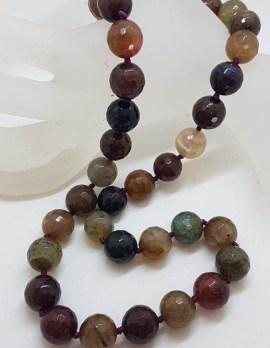 Multi-Colour Agate Bead Necklace