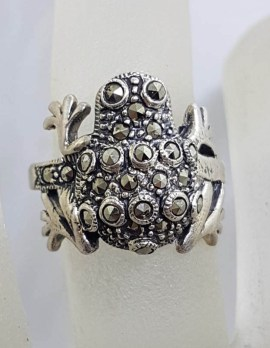 Sterling Silver Marcasite Frog Ring