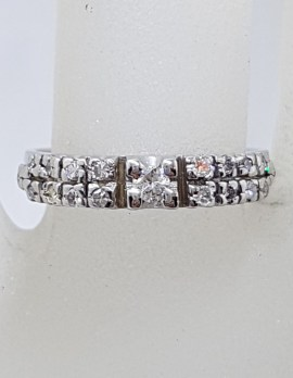 18ct White Gold Claw Set Diamond Engagement Ring / Wedding Ring / Eternity Ring / Dress Ring - Antique / Vintage