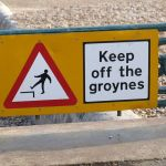 Notice on Brighton beach