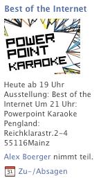 Powerpoint Karaoke Facebook Werbung