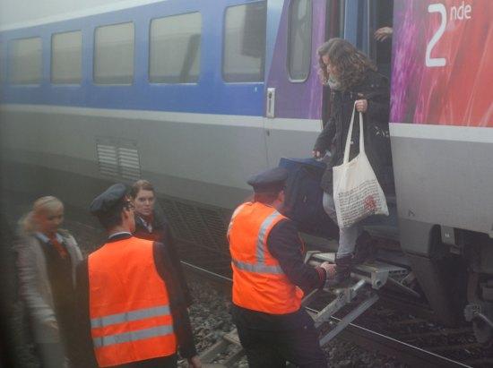 TGV Umsteigen Paris