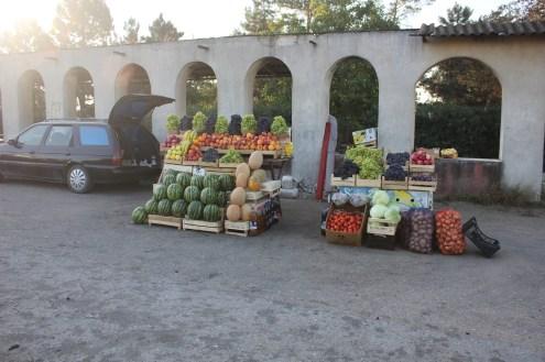 An vielen Straßen wird grad frisches Obst verkauft