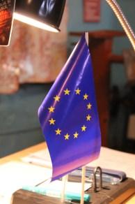 Ob diese Fahne auch nach unserem Besuch noch da steht?
