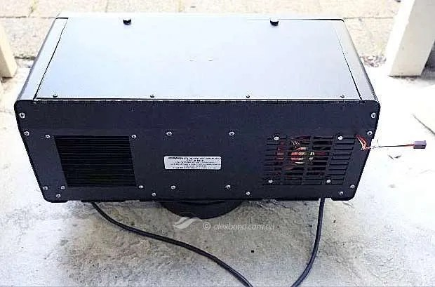 Beseler dichro 45s Rear view showing 12V DC wire exiting from rear grill.