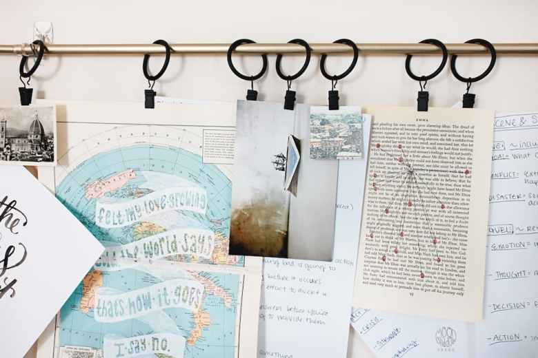reclaimed materials to display photos
