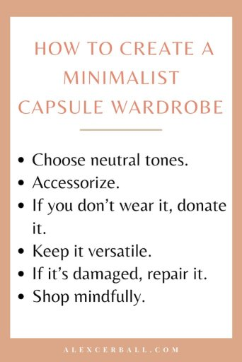 Spring wardrobe minimalist capsule