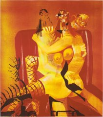 george-condo-double-seated-couple