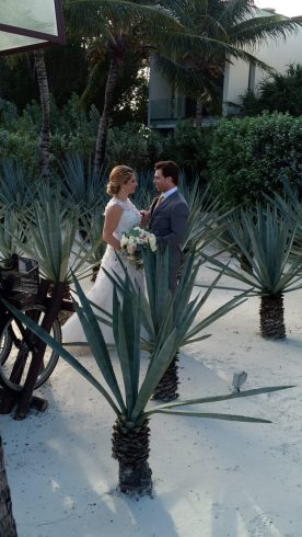 bride and groom, Rosewood, Playa del Carmen, Riviera maya, Mexico