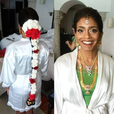south asian indian bride hair and make up