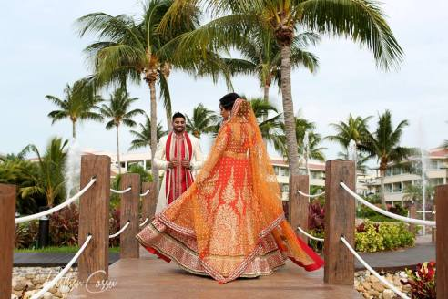South Asian wedding in Moon Palace, Cancun, Mexico