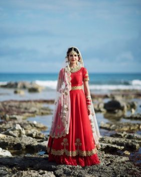 Suman indian bride photo session in Barcelo, Riviera Maya, Mexico