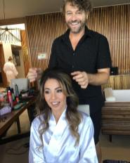 Finishing Maria hair and make up grand hyatt playa del carmen, riviera maya