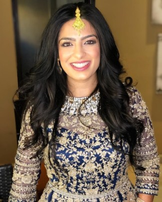 indianbride ready for reception night at generations riviera maya