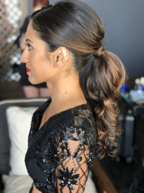 indianbride hair ponytail at nizuc cancun