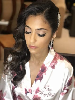 indian bride beauty for reception night at generations riviera maya