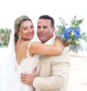 bride and husband just married in mia tulum