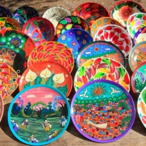 colorful ceramic designs depicting hispanic culture