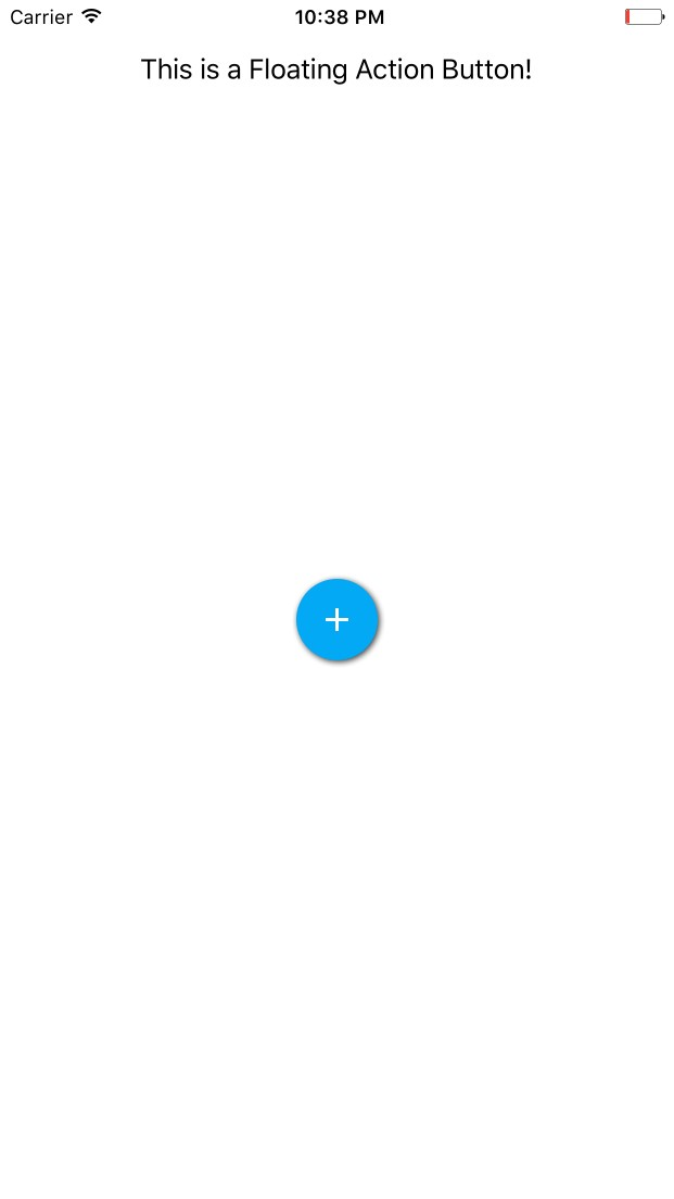 iOS Floating Action Button