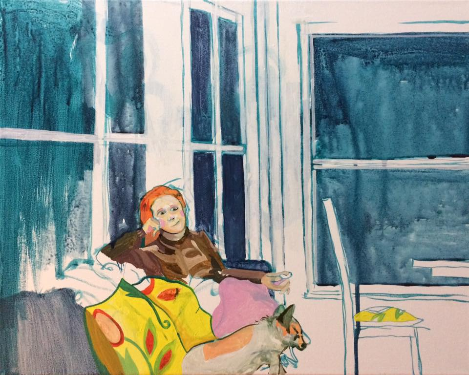 Paintings for 'P on the couch', from sketch.