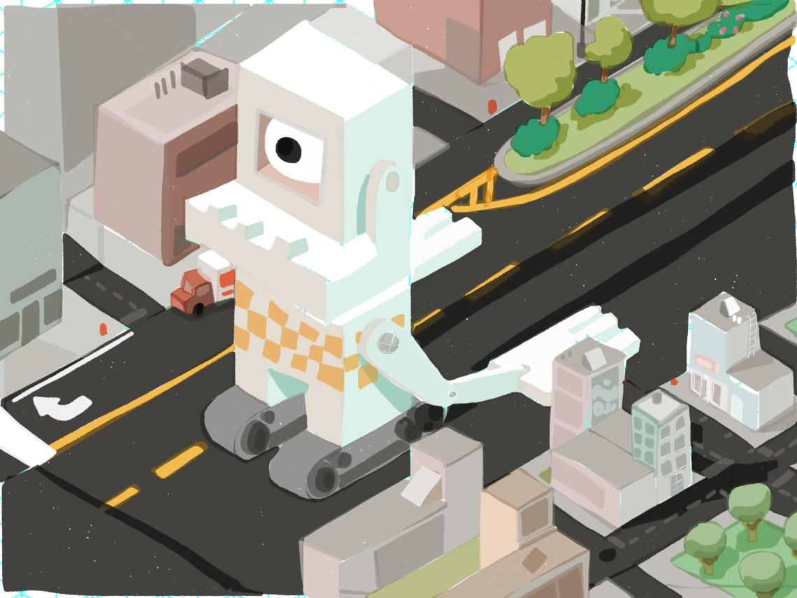 Main street robot