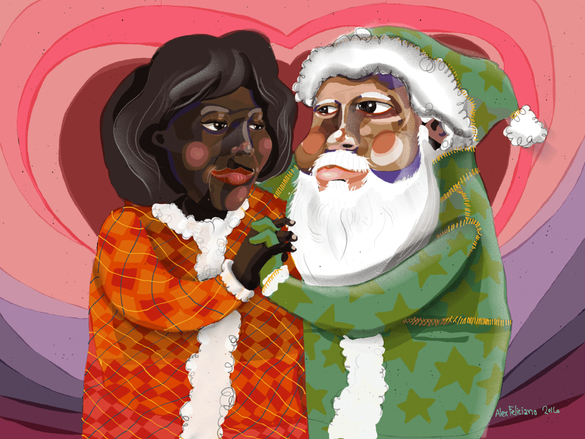 holiday card, love holiday style, by Alex Feliciano