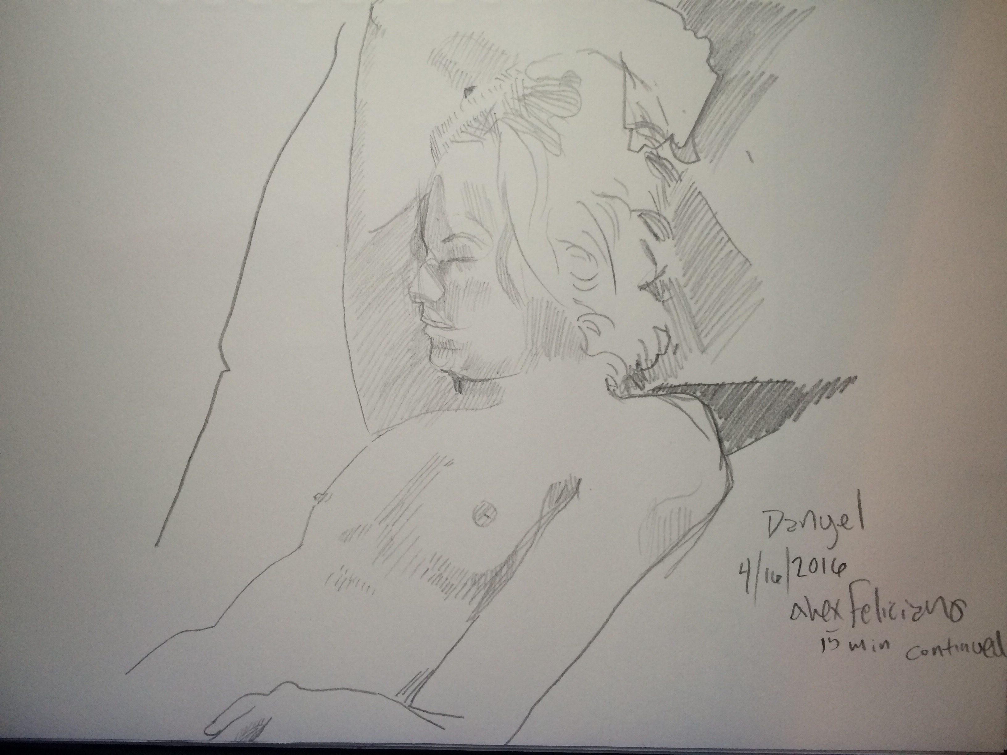 Figure drawing event, Sketchbook look.