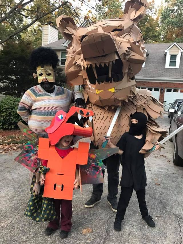 Alex, Gio, Damien and Oscar Dressed up for halloween 2016