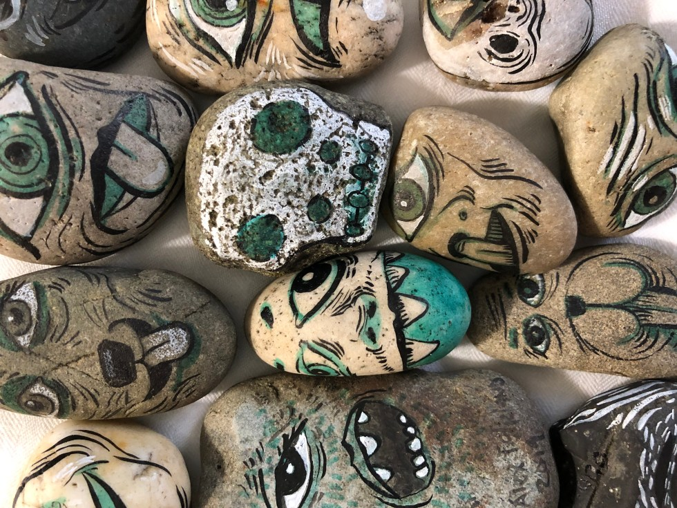 Hand drawn rocks