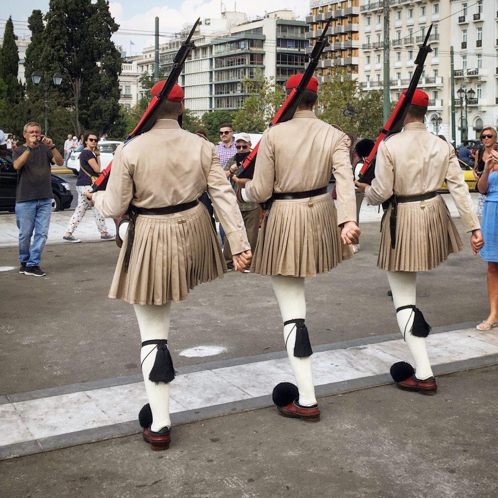 Evzones in Athens