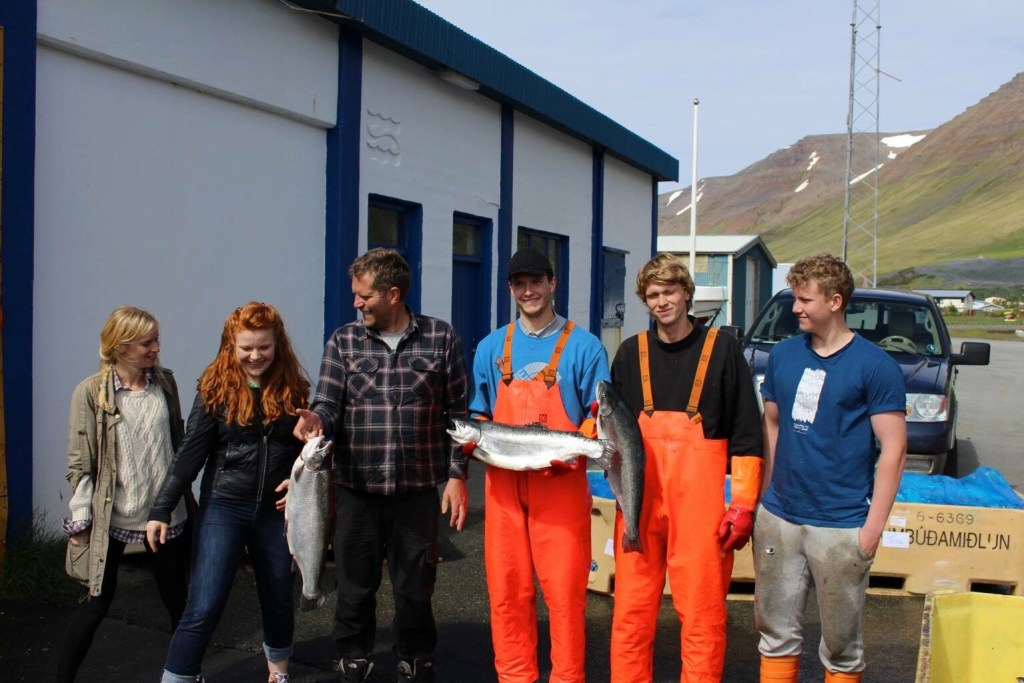 fishermen in Flateyri, an Icelandic fishing village