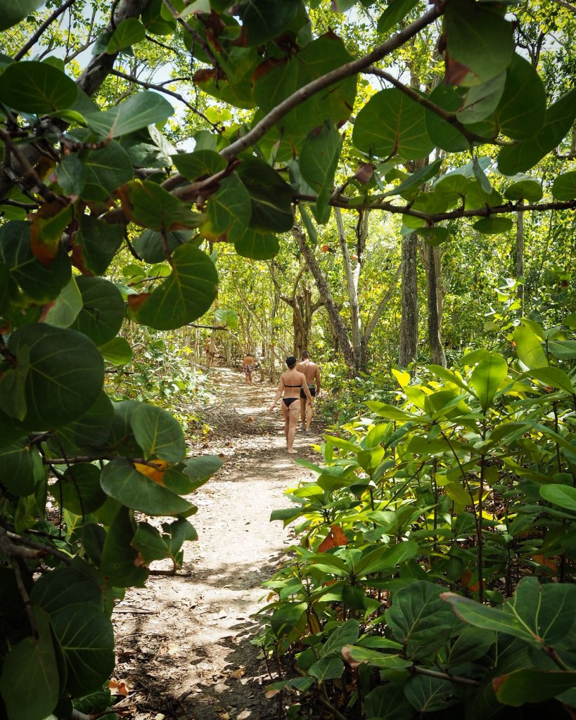 exploring an island in Guadeloupe