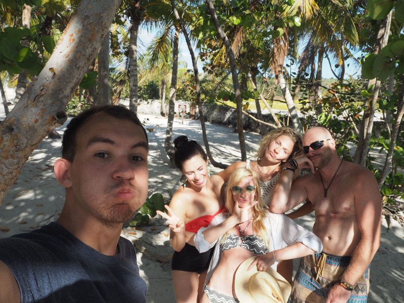 pals on the beach in Dominican Republic