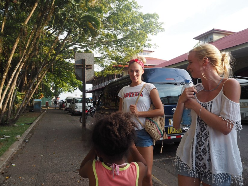 making friends in the Costa Rica cruise port of Limón