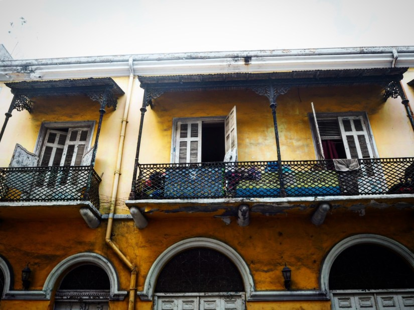 a weathered old house in Casco Viejo Panama