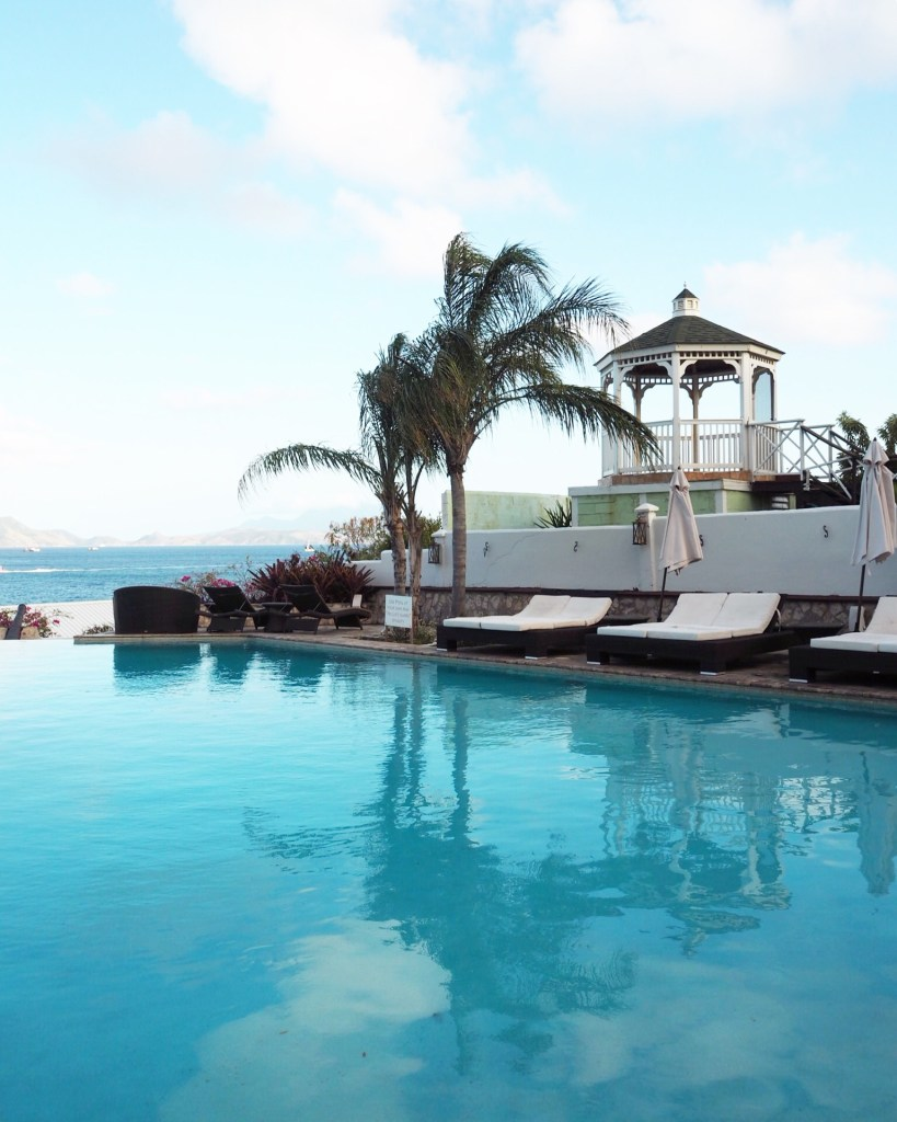 great pool in Palms Court Gardens St Kitts