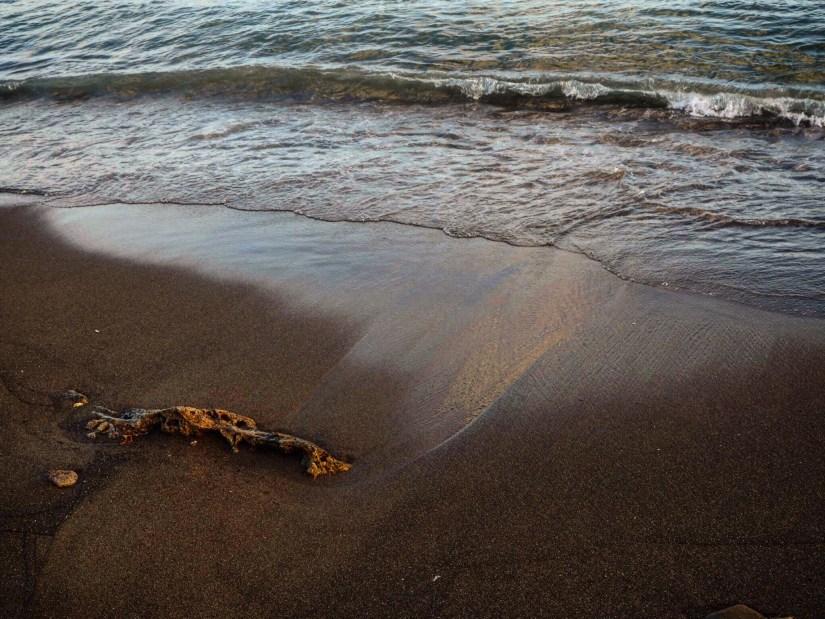 Black sand beach in St Kitts