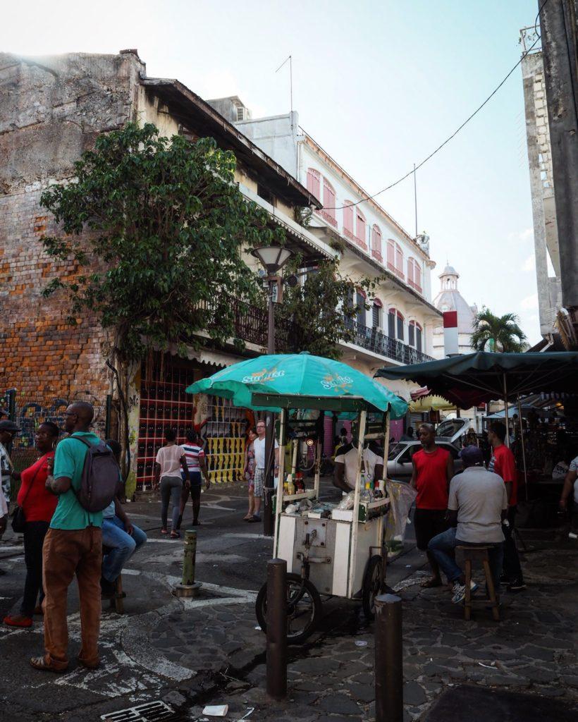a street market in Pointe-a-Pitre