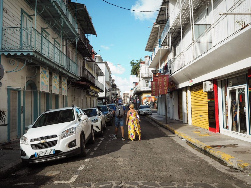 the streets of Pointe-a-Pitre Guadeloupe