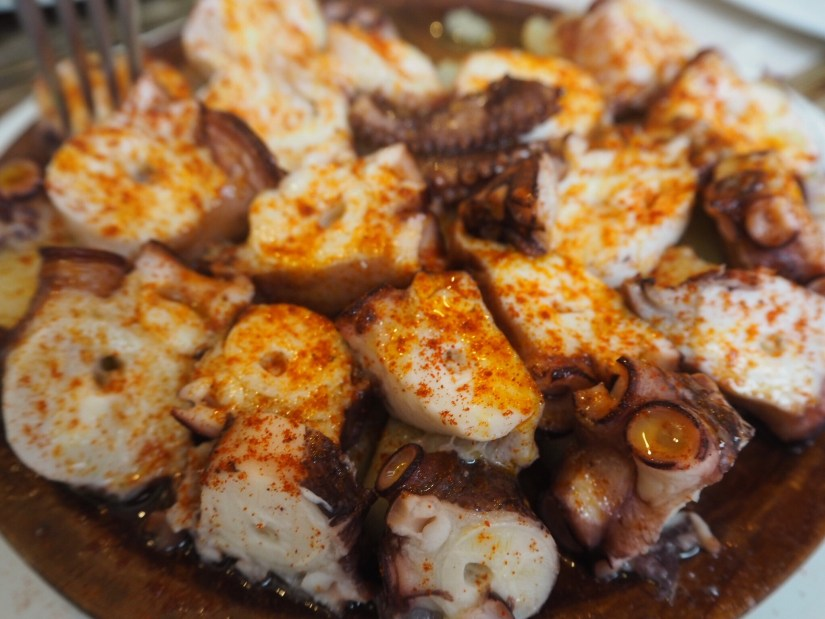 Octopus a Feira, a traditional Galician dish