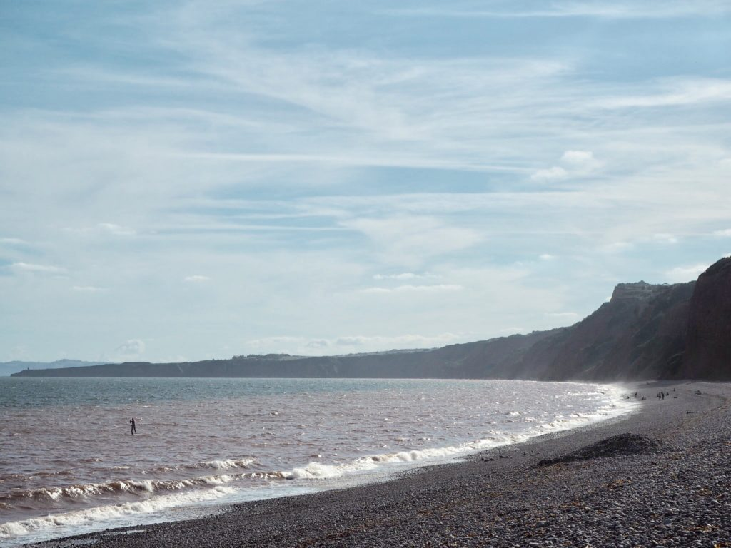the beach at Budleigh Salterton in Devon