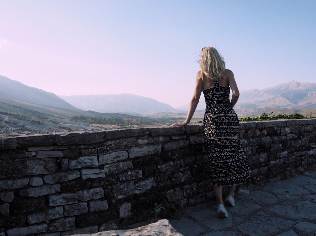 Alex Getting Lost amazing view in Gjirokastër