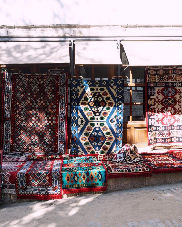 old bazaar in the sunshine