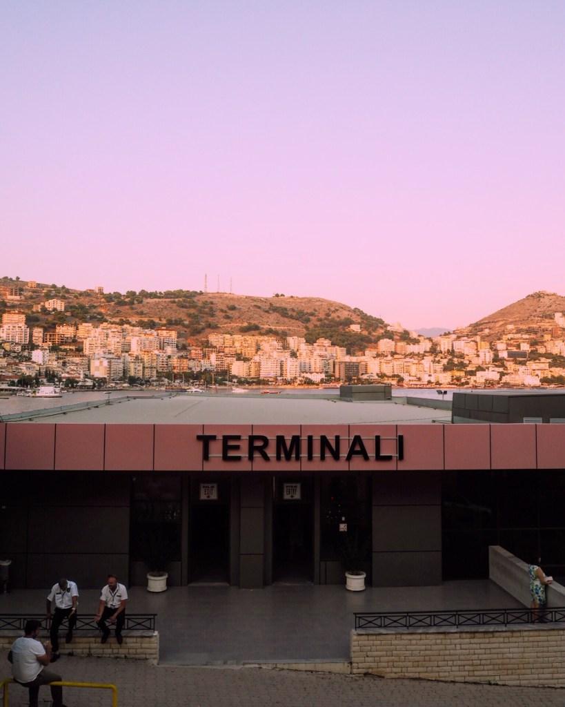 The ferry port in Saranda Albania